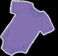 ABUniverse Coloured DiaperSuit Purple