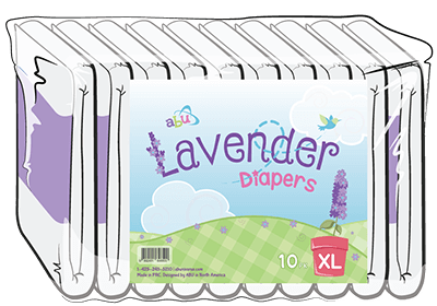Unscented Lavender XL Diapers